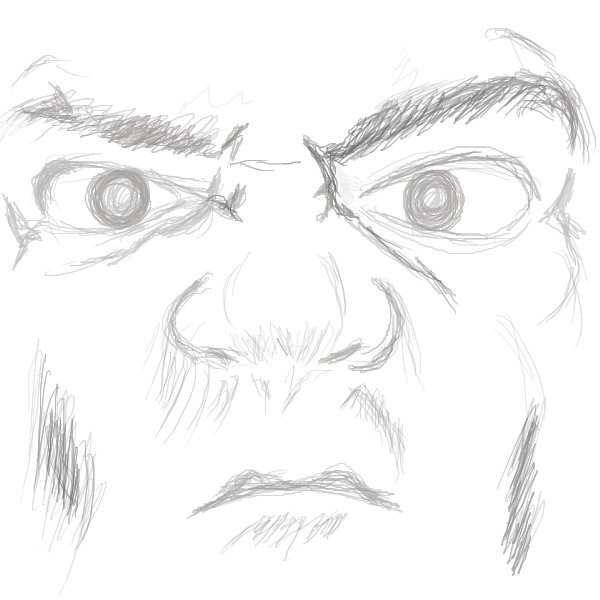 angry anime face drawing - photo #27